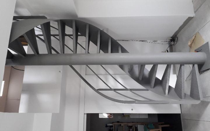 Fabrication d'un escalier hélécoïdale sur mesure